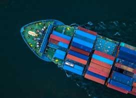 Trasporte de carga refrigerada en contenedores.